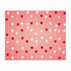 Heart Shape Background Love Small Glasses Cloth (2 Side)