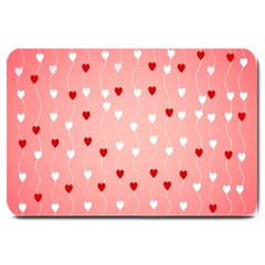 Heart Shape Background Love Large Doormat