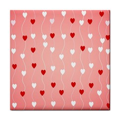 Heart Shape Background Love Face Towel