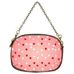 Heart Shape Background Love Chain Purses (one Side)