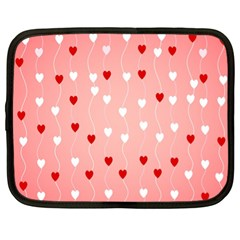 Heart Shape Background Love Netbook Case (xl)