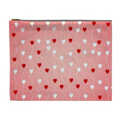 Heart Shape Background Love Cosmetic Bag (xl)