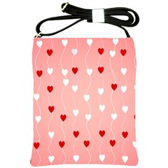 Heart Shape Background Love Shoulder Sling Bags