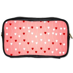 Heart Shape Background Love Toiletries Bags