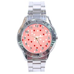 Heart Shape Background Love Stainless Steel Analogue Watch