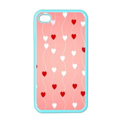 Heart Shape Background Love Apple Iphone 4 Case (color) by Nexatart