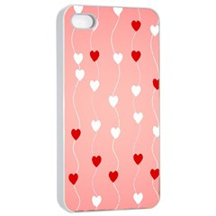 Heart Shape Background Love Apple Iphone 4/4s Seamless Case (white)