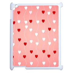 Heart Shape Background Love Apple Ipad 2 Case (white)