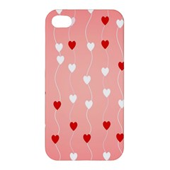 Heart Shape Background Love Apple Iphone 4/4s Hardshell Case