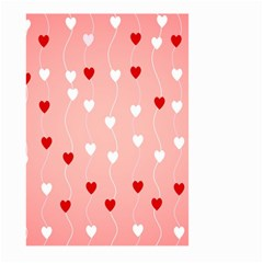 Heart Shape Background Love Large Garden Flag (two Sides)