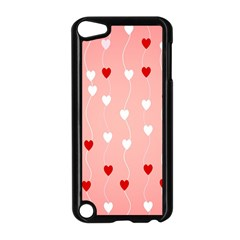 Heart Shape Background Love Apple Ipod Touch 5 Case (black)