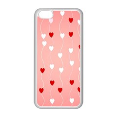 Heart Shape Background Love Apple Iphone 5c Seamless Case (white)