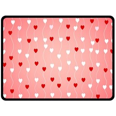 Heart Shape Background Love Double Sided Fleece Blanket (large)