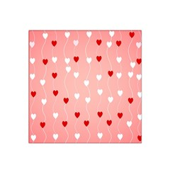 Heart Shape Background Love Satin Bandana Scarf