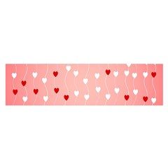 Heart Shape Background Love Satin Scarf (oblong)