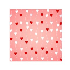 Heart Shape Background Love Small Satin Scarf (square) by Nexatart