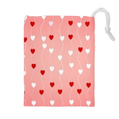Heart Shape Background Love Drawstring Pouches (extra Large)