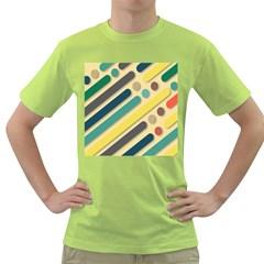 Background Vintage Desktop Color Green T Shirt