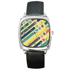 Background Vintage Desktop Color Square Metal Watch