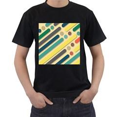 Background Vintage Desktop Color Men s T Shirt (black) (two Sided)