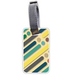 Background Vintage Desktop Color Luggage Tags (one Side)