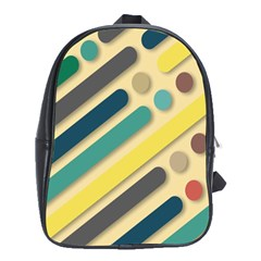 Background Vintage Desktop Color School Bag (xl)