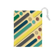 Background Vintage Desktop Color Drawstring Pouches (medium)
