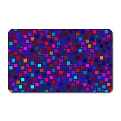 Squares Square Background Abstract Magnet (rectangular)