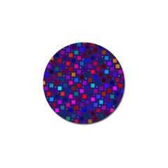 Squares Square Background Abstract Golf Ball Marker