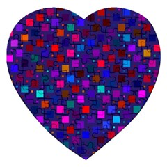 Squares Square Background Abstract Jigsaw Puzzle (heart)