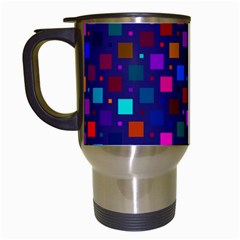 Squares Square Background Abstract Travel Mugs (white)