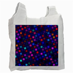 Squares Square Background Abstract Recycle Bag (two Side)
