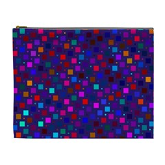 Squares Square Background Abstract Cosmetic Bag (xl)