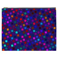 Squares Square Background Abstract Cosmetic Bag (xxxl)