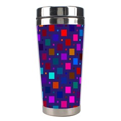 Squares Square Background Abstract Stainless Steel Travel Tumblers by Nexatart