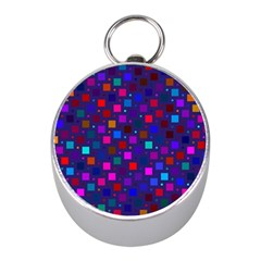 Squares Square Background Abstract Mini Silver Compasses