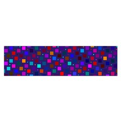 Squares Square Background Abstract Satin Scarf (oblong)