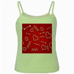 Background Valentine S Day Love Green Spaghetti Tank