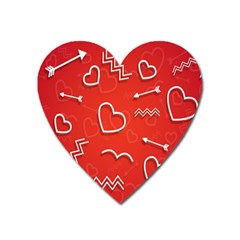 Background Valentine S Day Love Heart Magnet