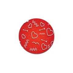 Background Valentine S Day Love Golf Ball Marker (10 Pack) by Nexatart