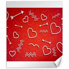 Background Valentine S Day Love Canvas 8  X 10