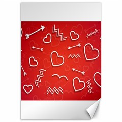 Background Valentine S Day Love Canvas 12  X 18