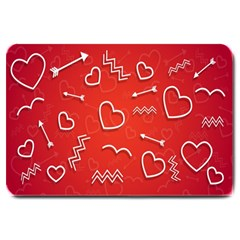 Background Valentine S Day Love Large Doormat