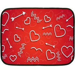 Background Valentine S Day Love Fleece Blanket (mini)