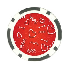 Background Valentine S Day Love Poker Chip Card Guard (10 Pack)