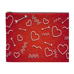 Background Valentine S Day Love Cosmetic Bag (xl)
