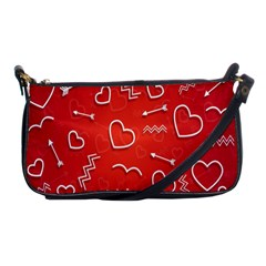 Background Valentine S Day Love Shoulder Clutch Bags