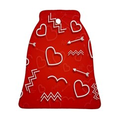 Background Valentine S Day Love Bell Ornament (two Sides)