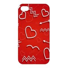 Background Valentine S Day Love Apple Iphone 4/4s Hardshell Case