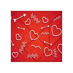Background Valentine S Day Love Acrylic Tangram Puzzle (4  X 4 )